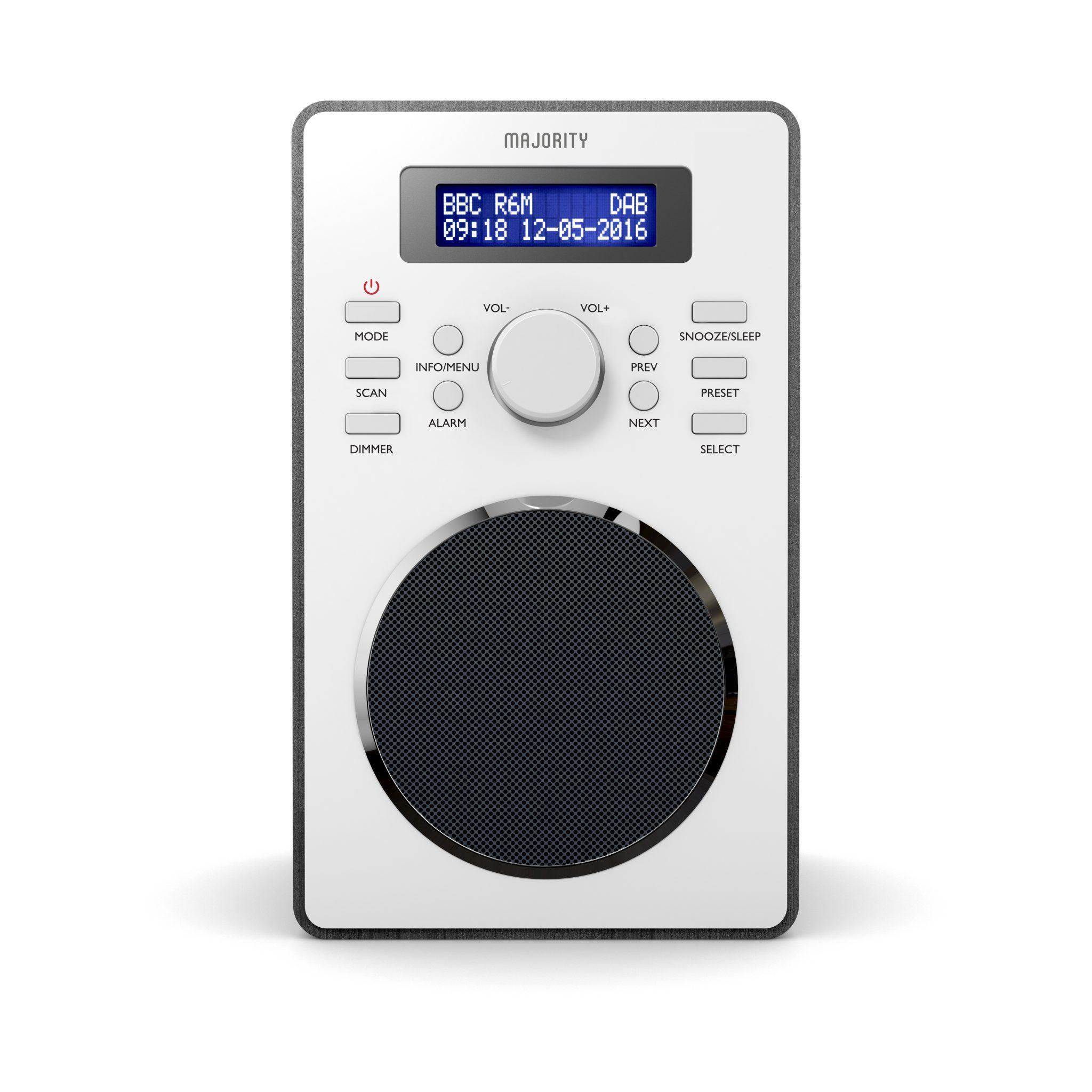 DAB Digital Radio - Barton Black Front