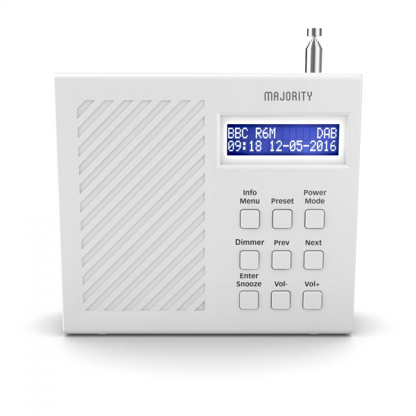 DAB Radio Alarm Clock - Arbury White