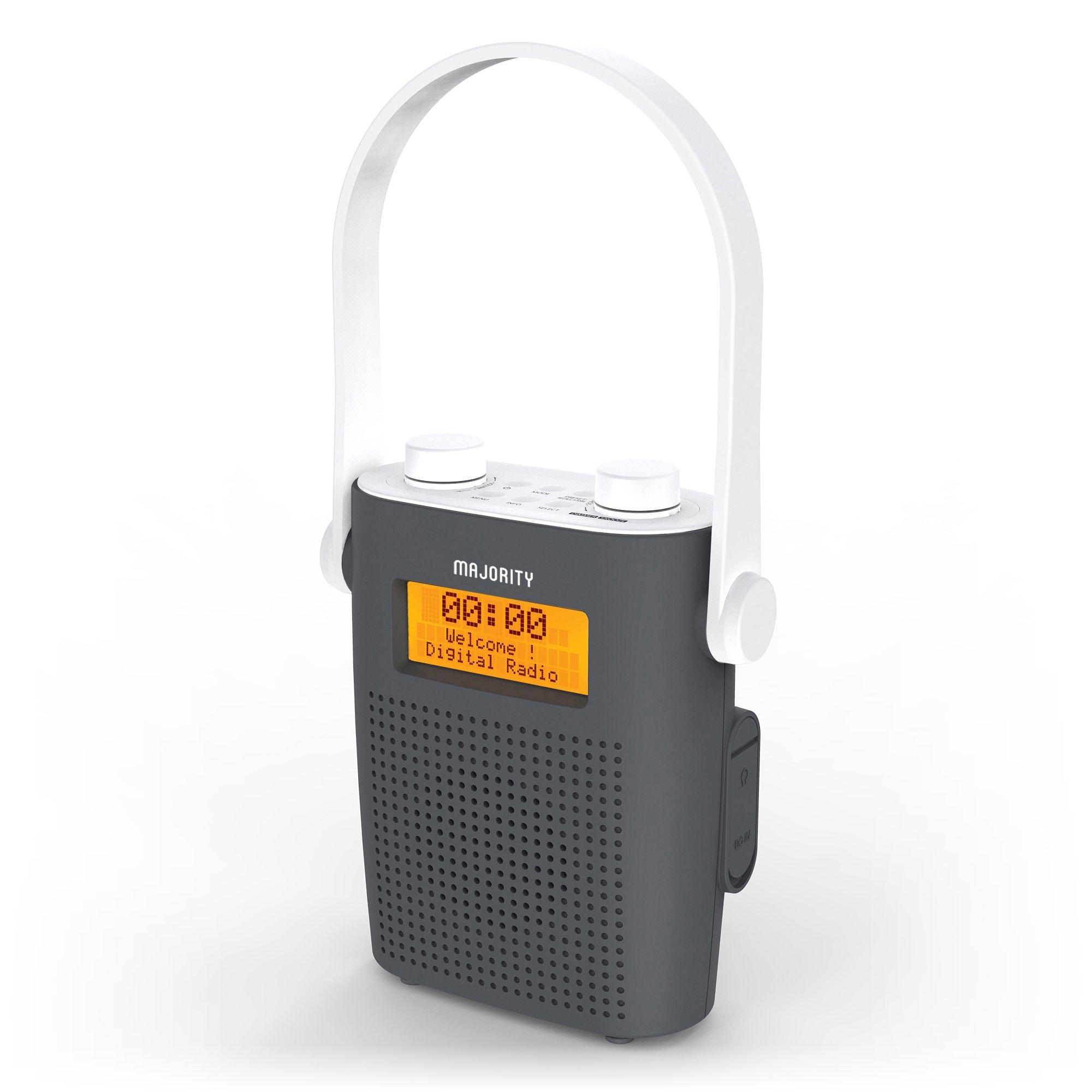 Shower Radio - Eversden Grey Angled