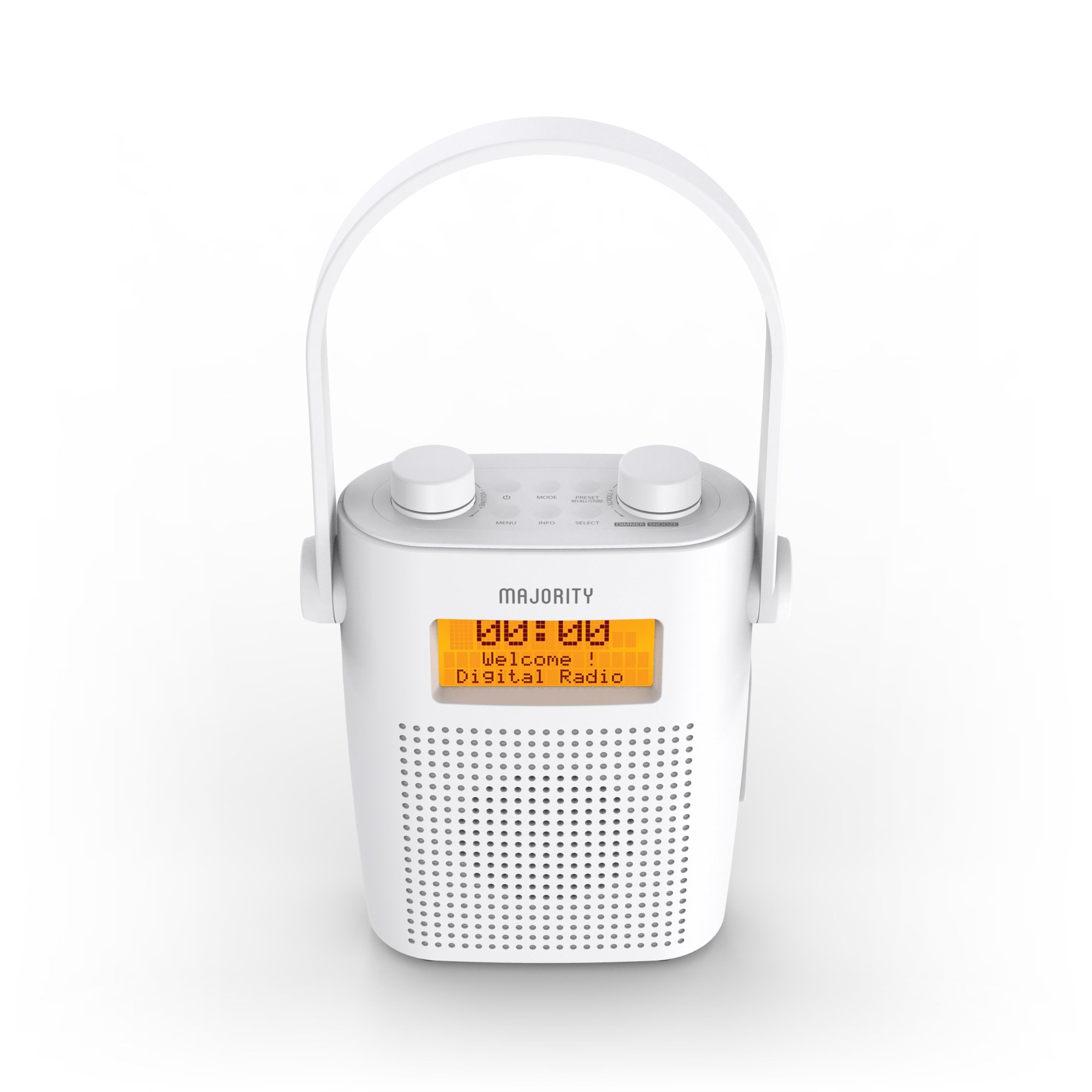 Shower Radio - Eversden White Top