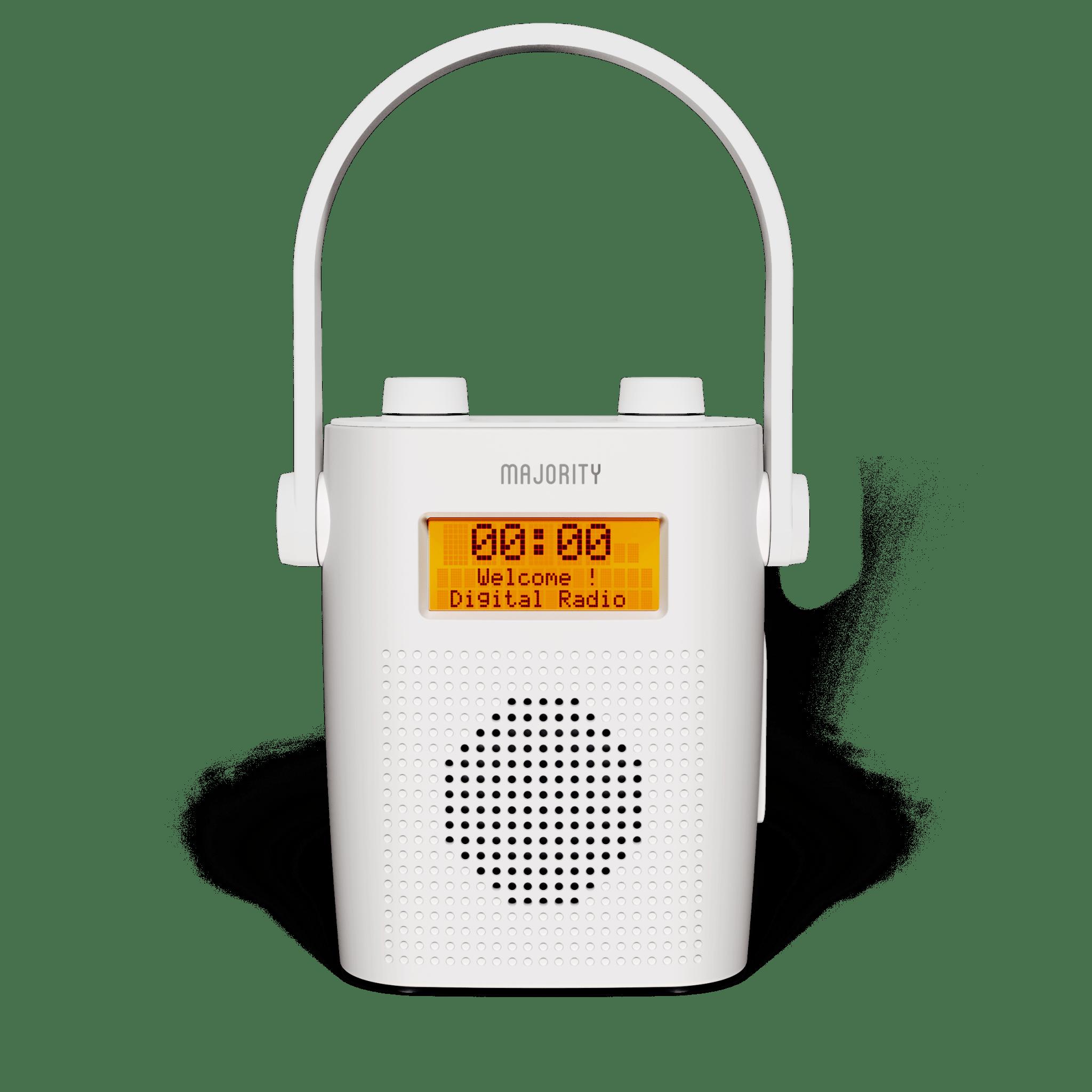 Waterproof Shower Radio - Eversden White