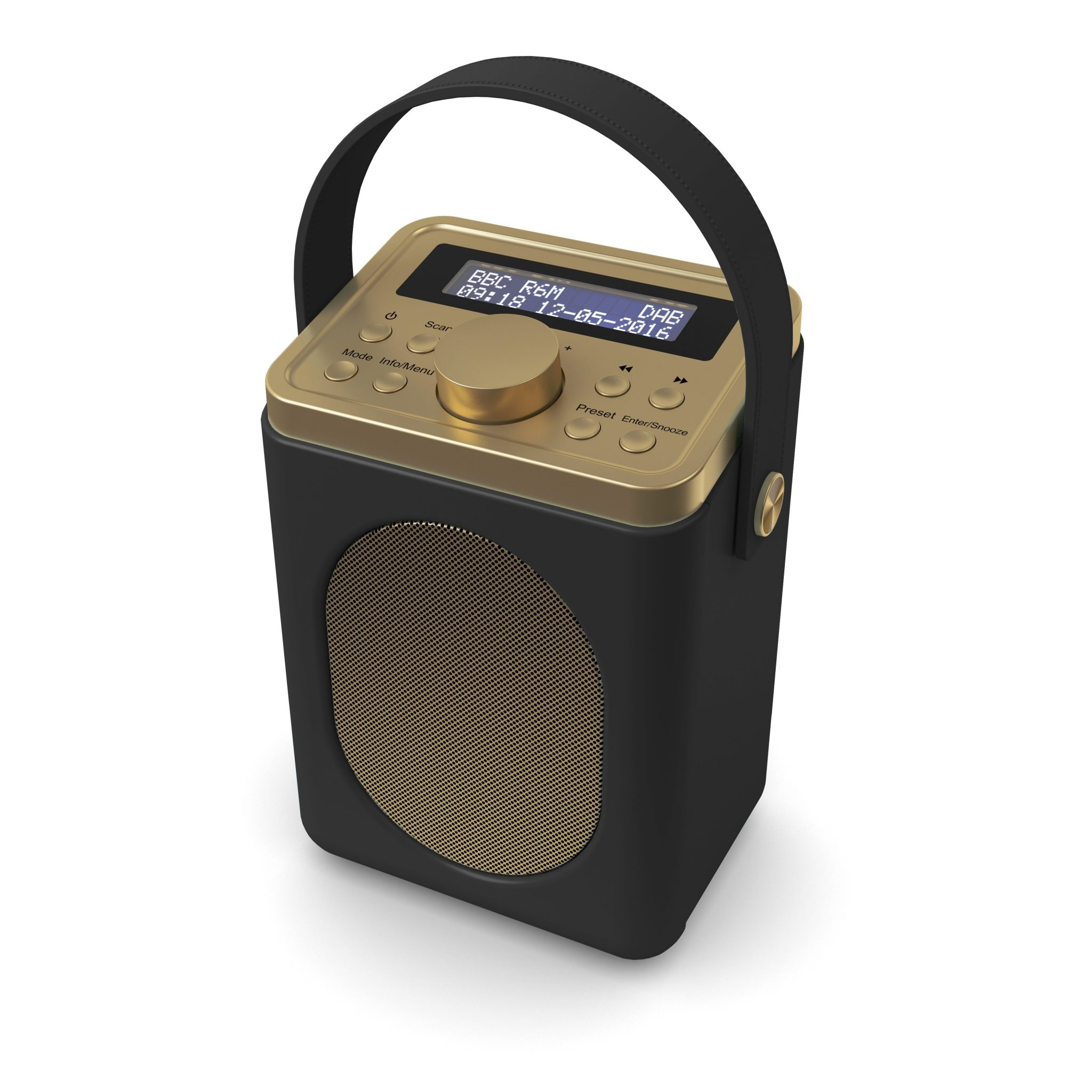 DAB Radio with Bluetooth - Little Shelford Black Angled