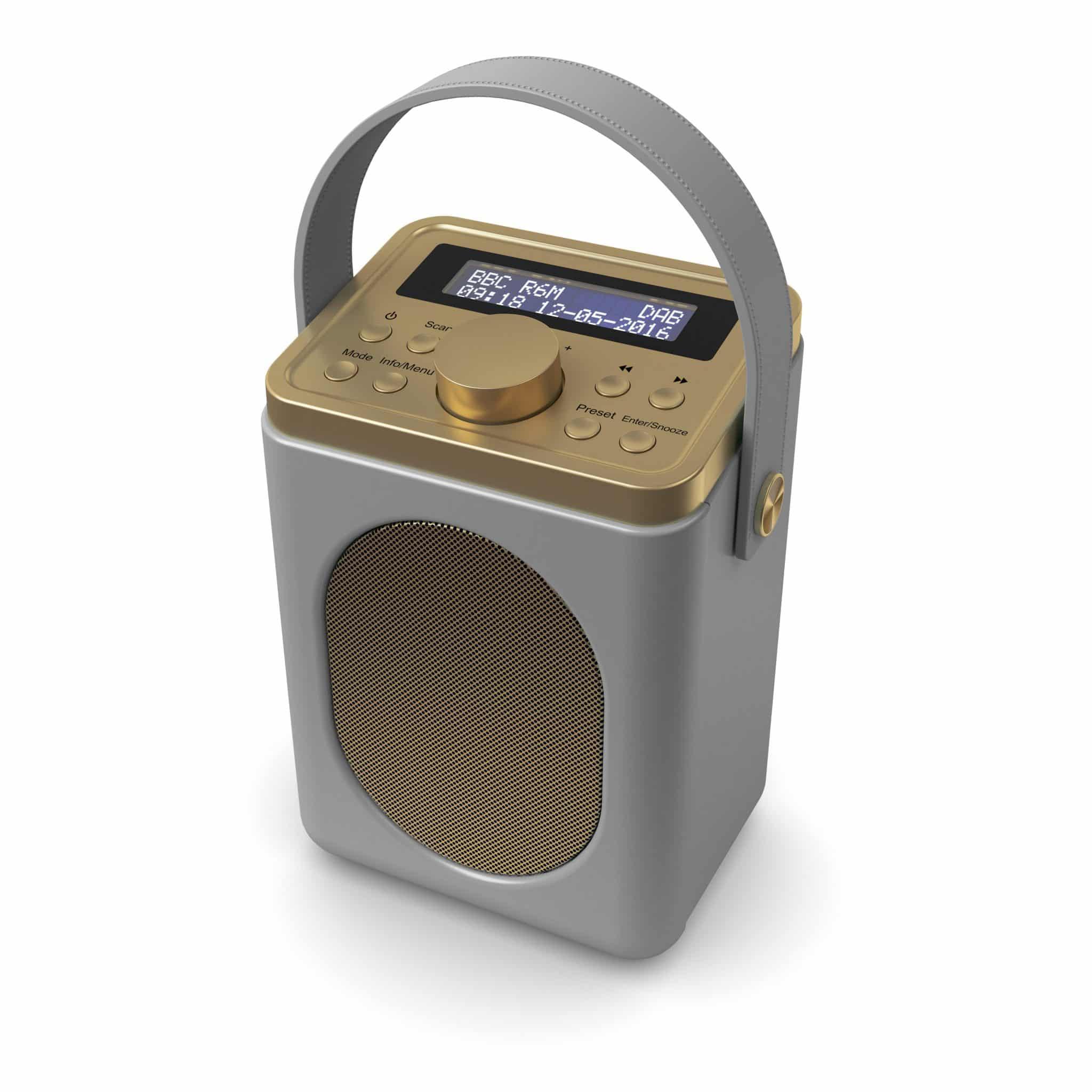 DAB Radio with Bluetooth - Little Shelford Grey Angled