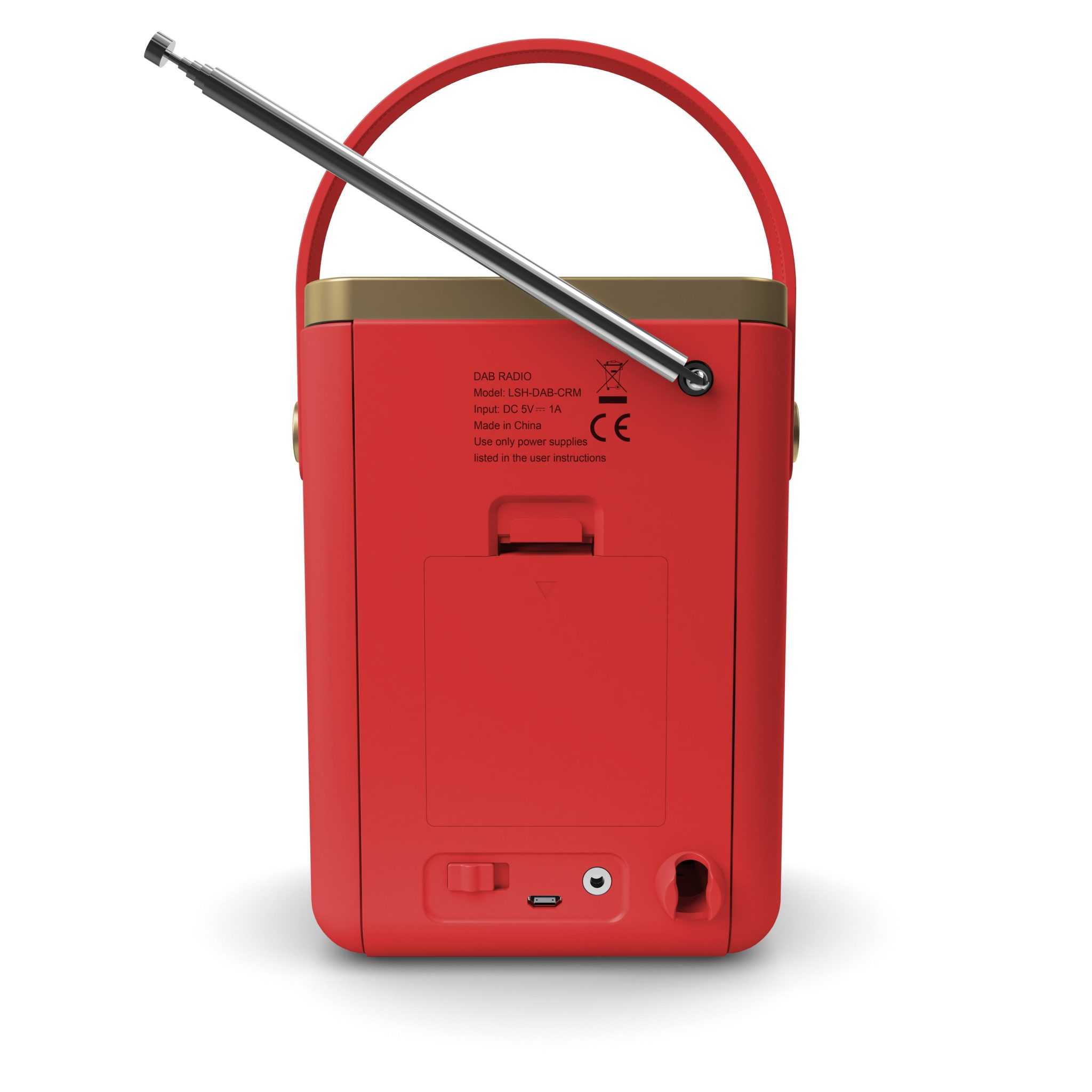DAB Radio with Bluetooth - Little Shelford Red Back