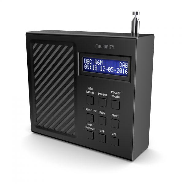 DAB Radio Alarm Clock - Arbury Angled