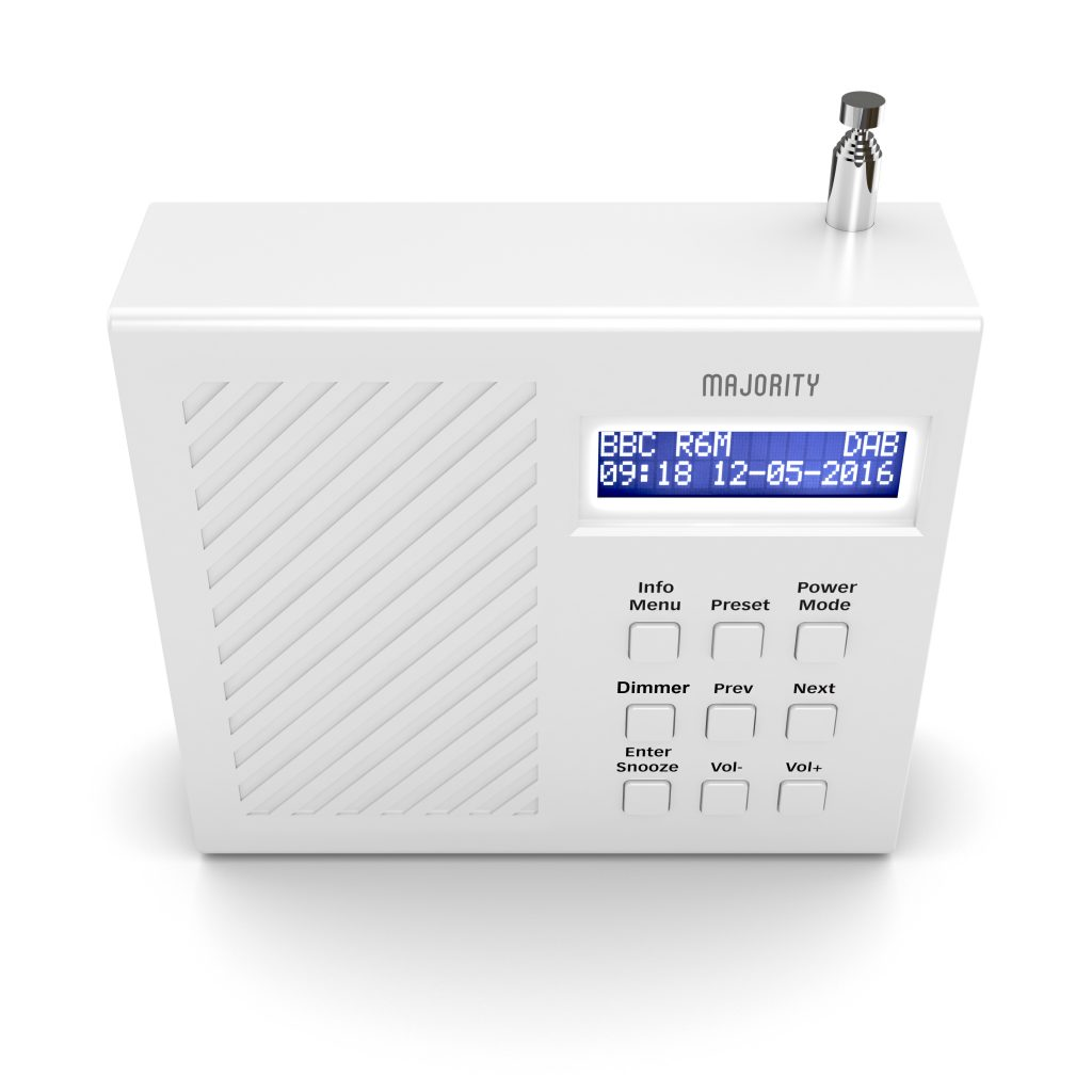 DAB Radio Alarm Clock - Arbury White Top