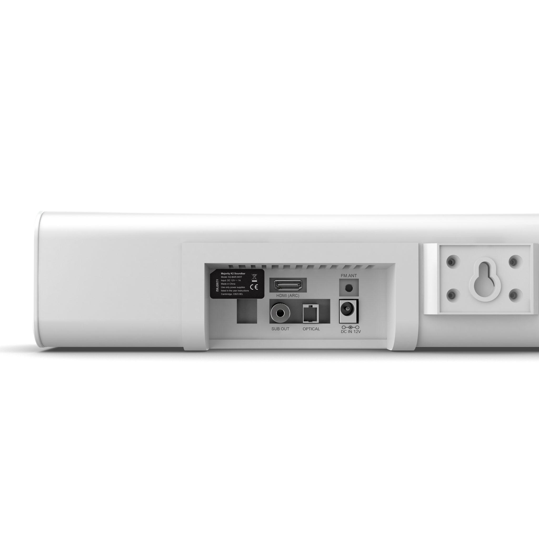 TV Sound Bar with Subwoofer - K2 White Back