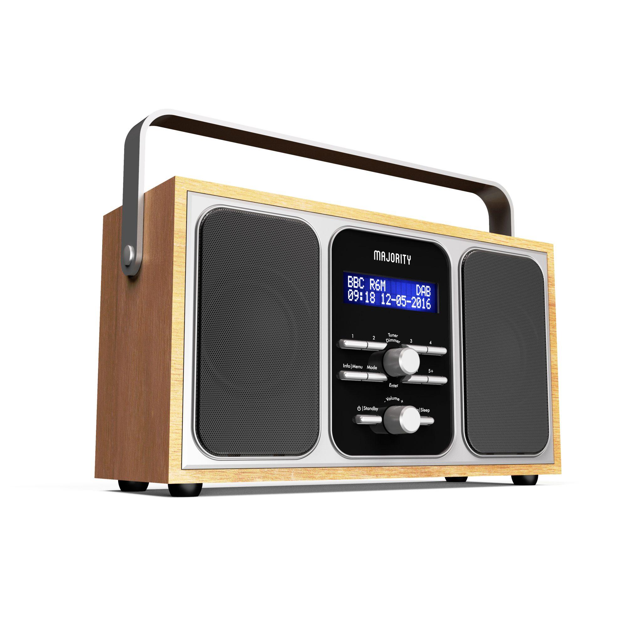 Portable DAB Radio - Girton Angled