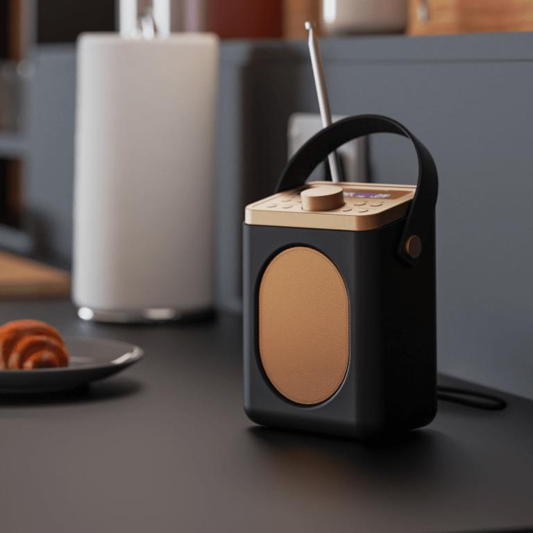 Portable Bluetooth DAB Radio - Little Shelford Black Lifestyle