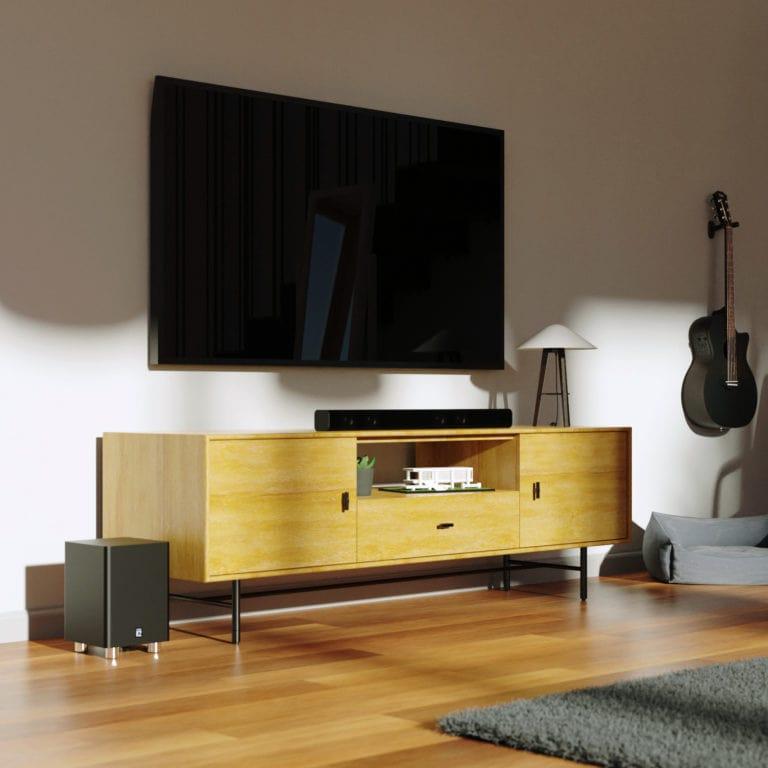 Bluetooth Soundbar and Subwoofer - K2 Black Lifestyle