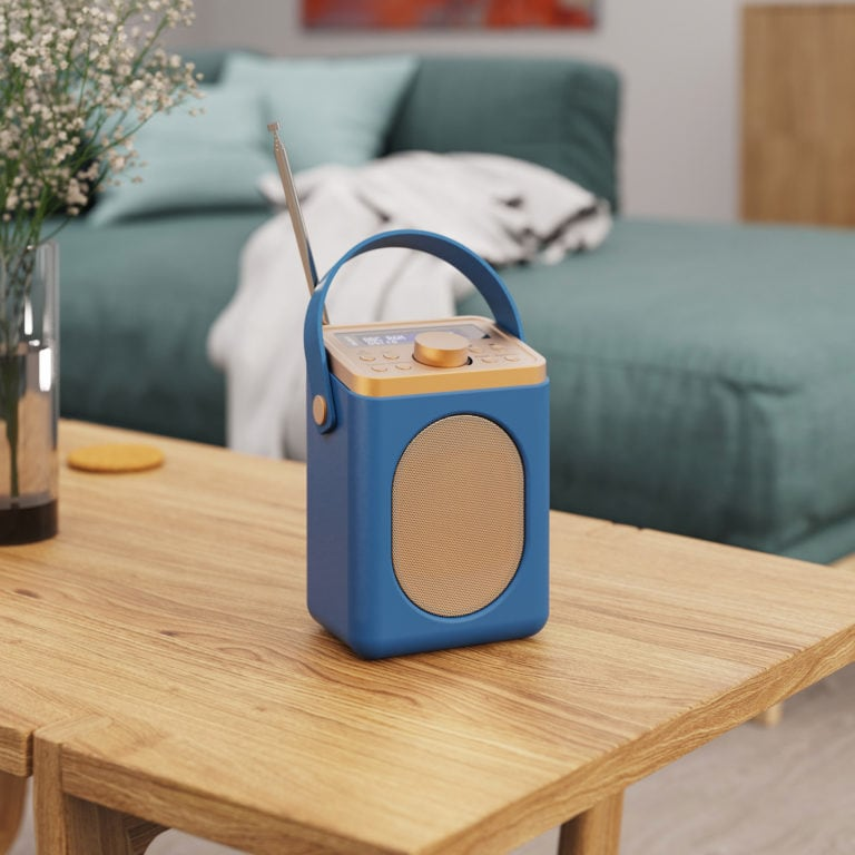 Portable DAB Radio with Bluetooth - Little Shelford Midnight Blue Lifestyle