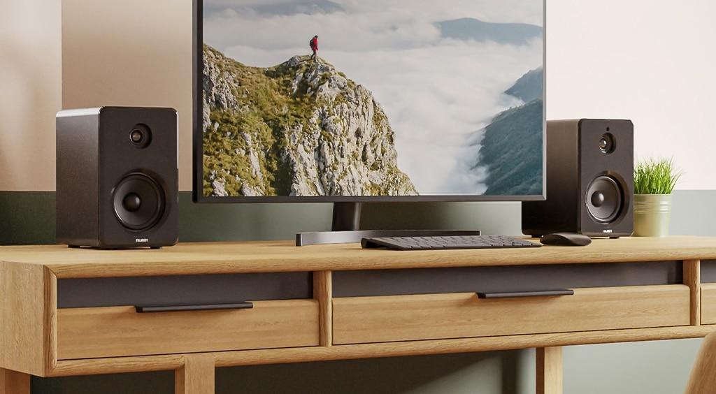 Majority D40 Bluetooth Active Bookshelf Speakers