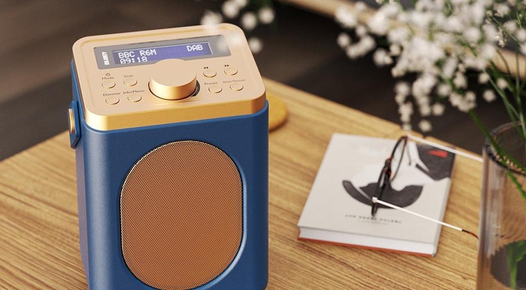 Majority Little Shelford Portable Bluetooth DAB Radio Midnight Lifestyle