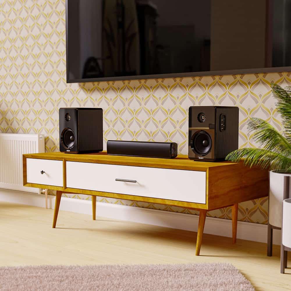 Majority Bowfell Bluetooth Soundbar and D40 Active Speakers