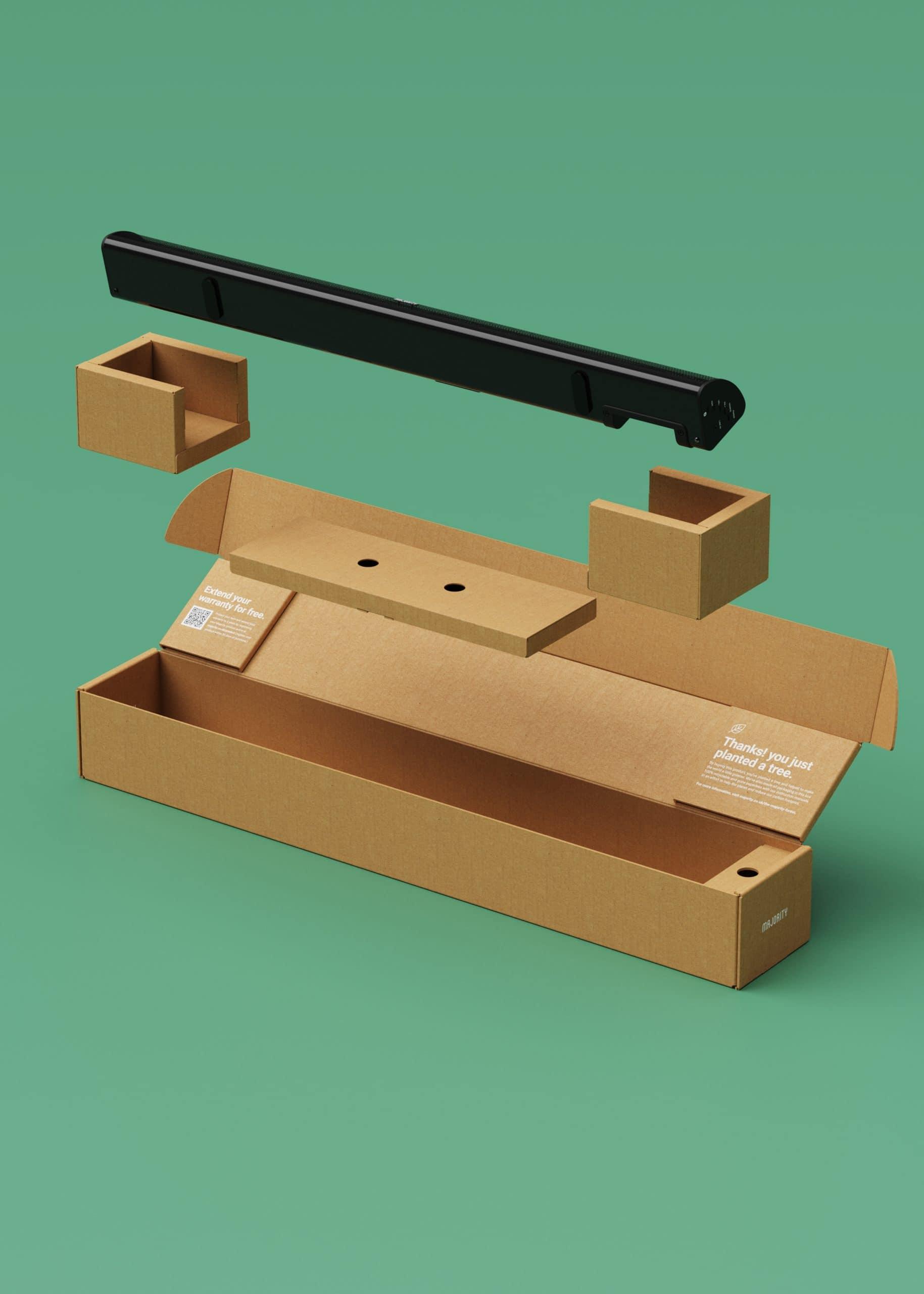 Sustainable Eco friendly Packaging, Majority Snowdon Soundbar