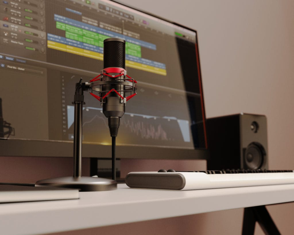 Majority RS Pro Condenser Microphone Podcast Music Computer Desk