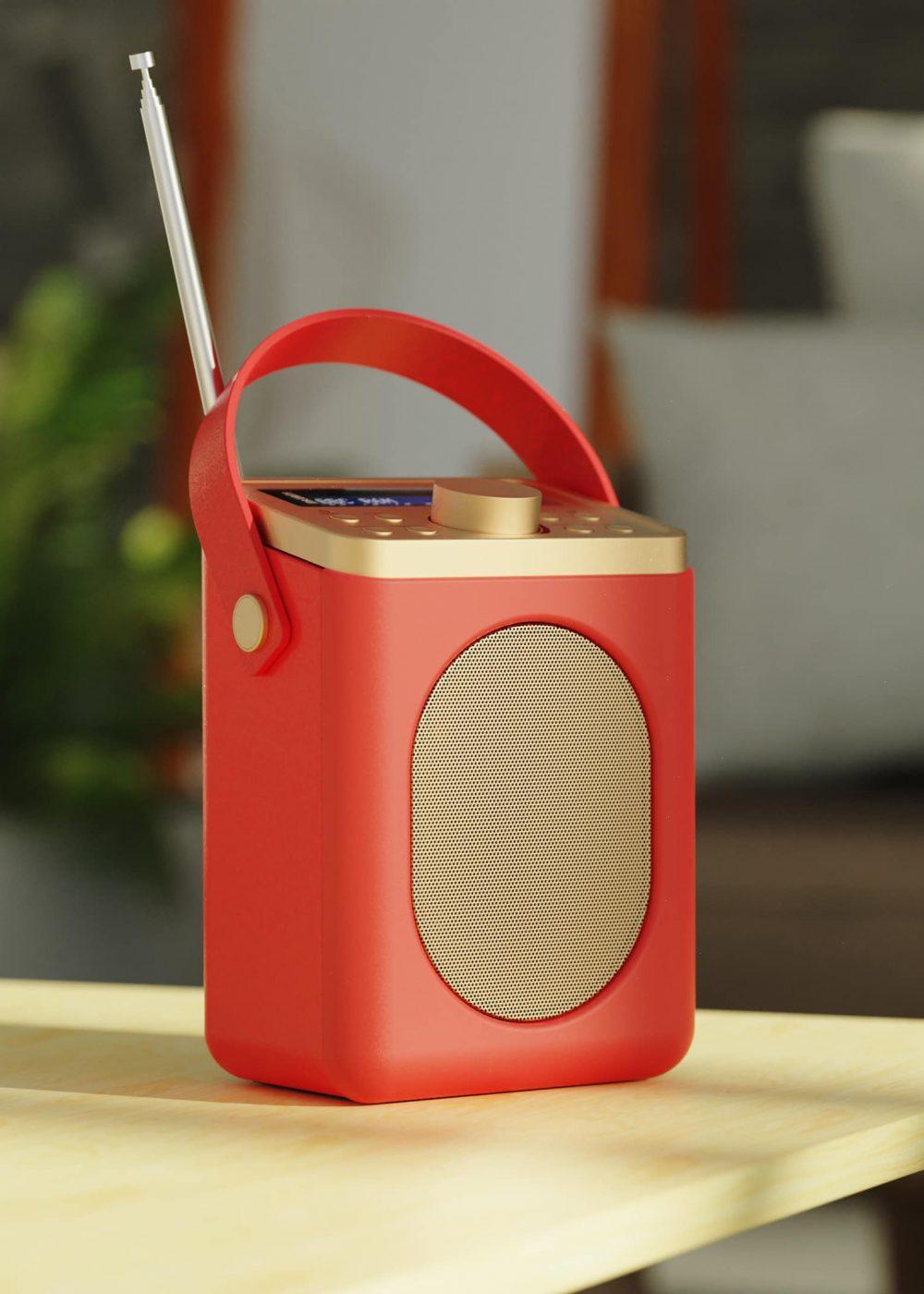 Digital Alarm and Radio - Little Shelford Red Lifestyle